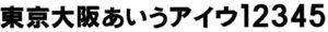 MS-012 角ゴシック